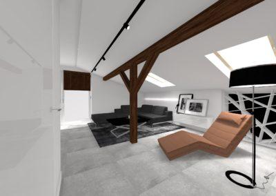 Nowoczesny apartament na poddaszu