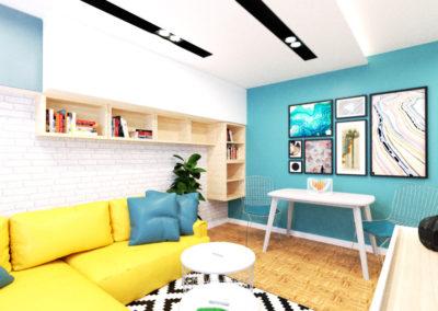 Nowoczesne kolorowe mieszkanie
