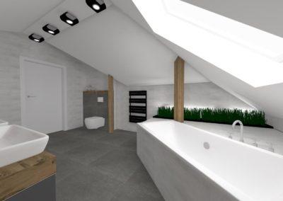 Projekt łazienki nr 1